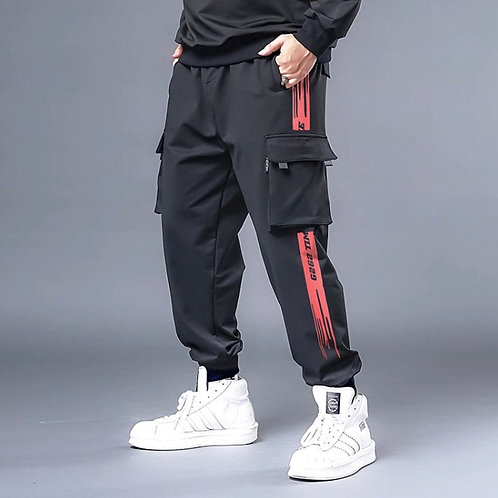 Red Cargo Joggers