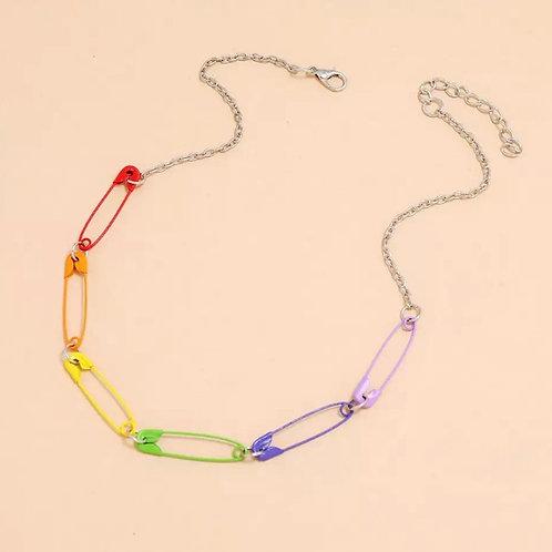 Pride Saftey Pin Necklace