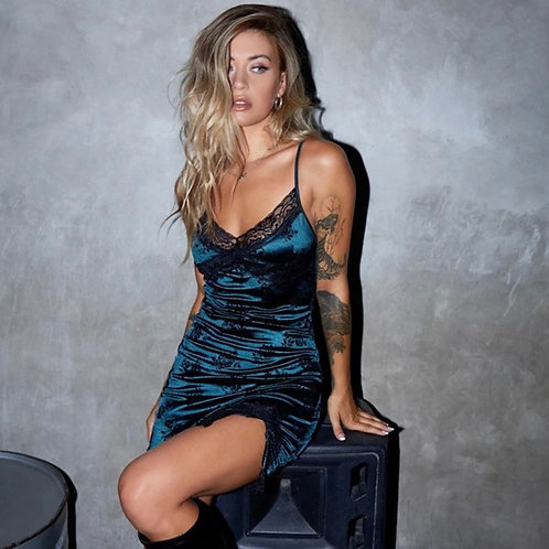 Dark Blue Slip Dress