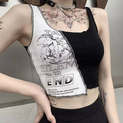 Edgy Stitched Top