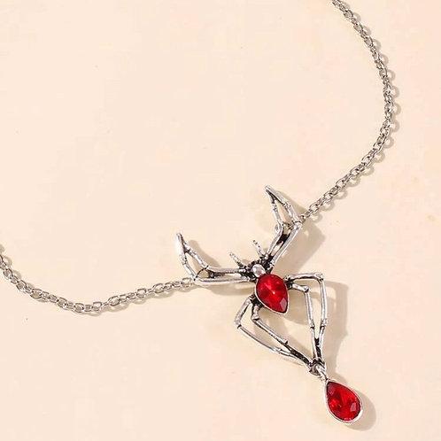 Evil Blossom Spider Necklace
