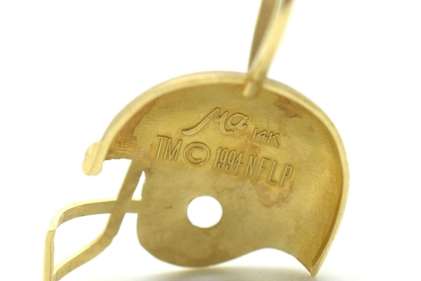 Miami Dolphins 14k Yellow Gold Michael Anthony NFL Golden Helmet Pendant
