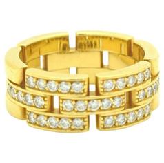 Cartier Maillon Panthère Diamond Ring 18 Karat Yellow Gold