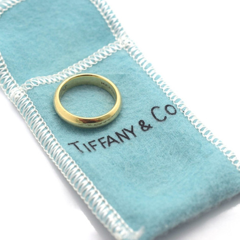 Tiffany & Co 14k Yellow Gold Wedding Band 4 MM 6.7 Grams