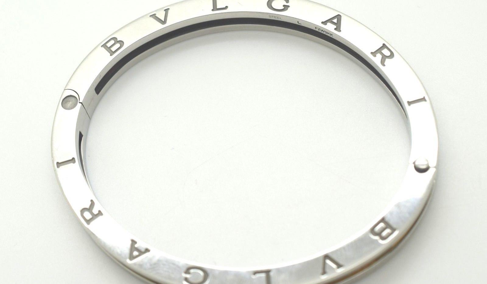 Bvlgari Bulgari B Zero-1 18k Yellow Gold & Steel Oval Bangle Bracelet