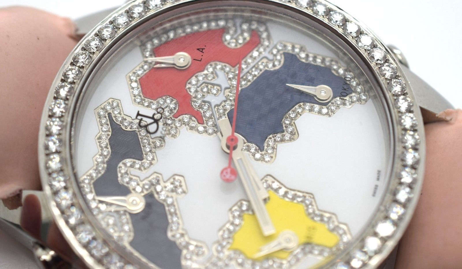 Jacob and Company Five Time Zone Diamond Continent Dial Unisex Watch JCM126