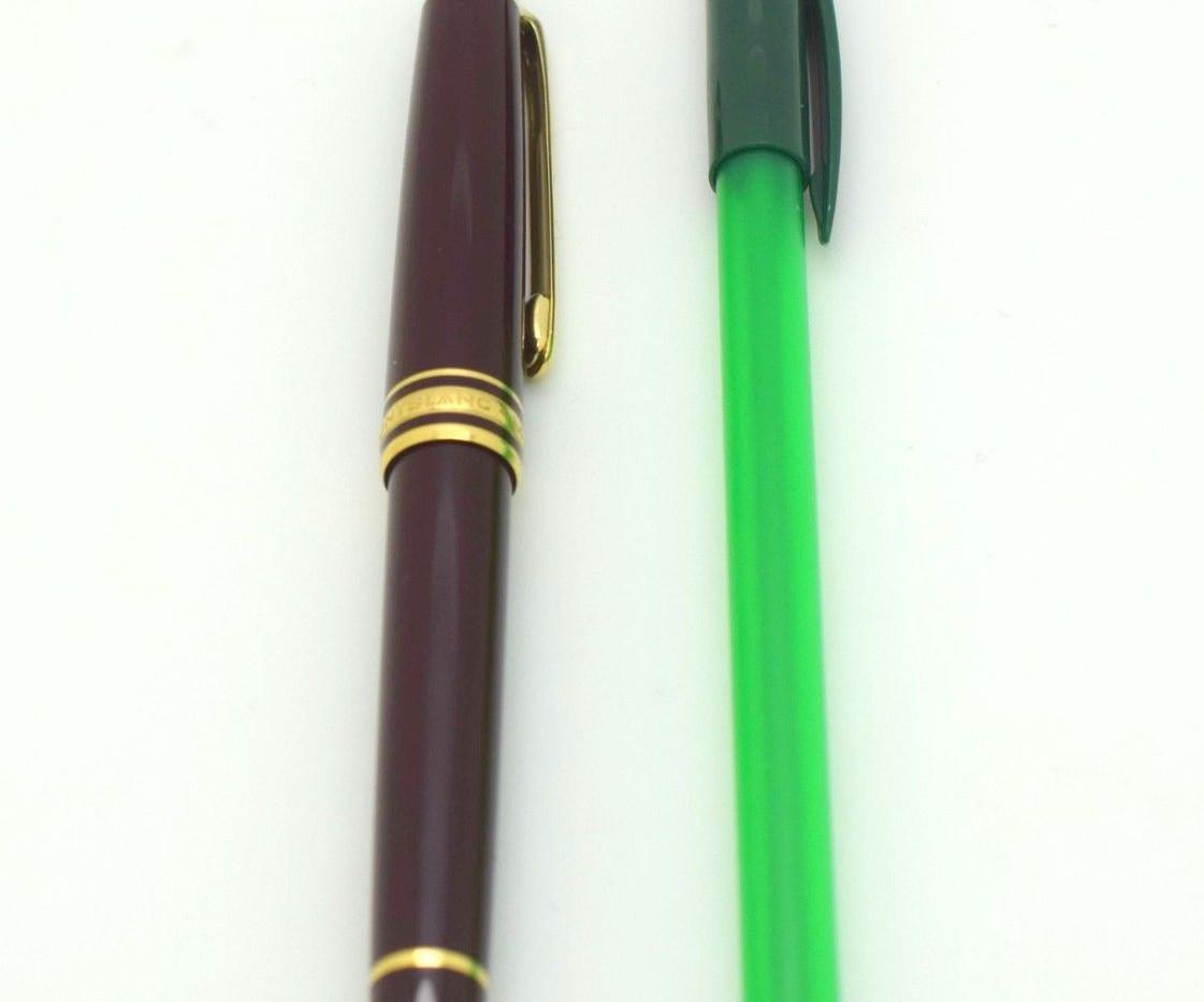MontBlanc MeisterStruck Fountain Pen LB159930 14K Gold Nib Brown Color Slim
