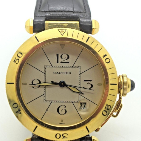 Cartier Pasha 18K Yellow Gold Automatic 38mm Watch