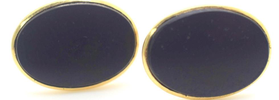 Estate Onyx Cuff Links 14k Yellow Gold 7.9 Grams