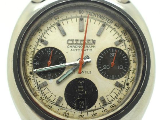 Vintage Citizen Bullhead 8110 Panda Octogon Chronograph 1970's