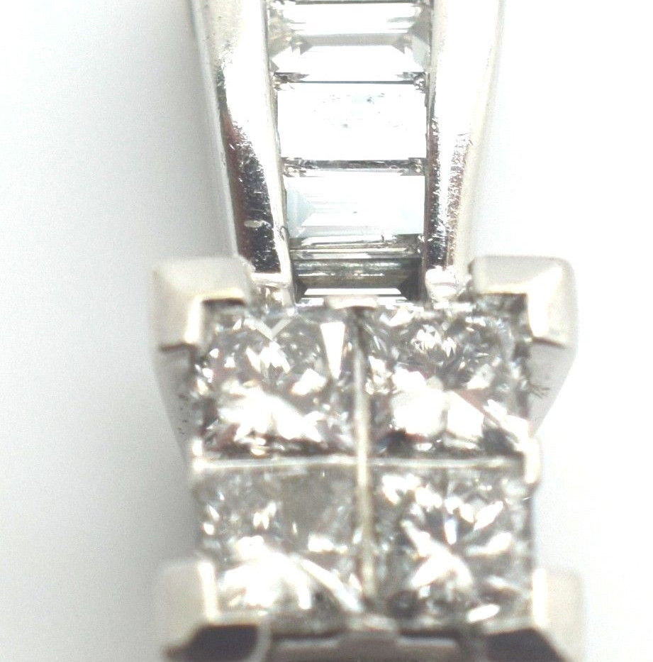 Estate Diamond .50 Ct Pendant 14k White Gold 2.0 Grams
