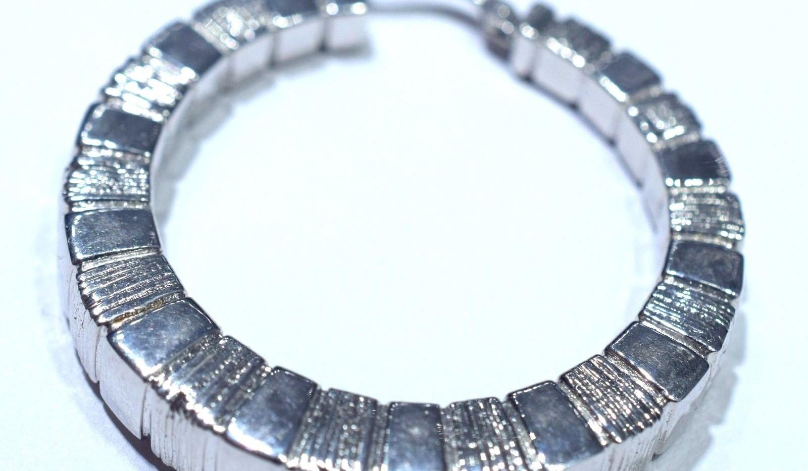 Estate Hoop Earrings 18k White Gold 9.27 Grams Italian Made 40 MM NR