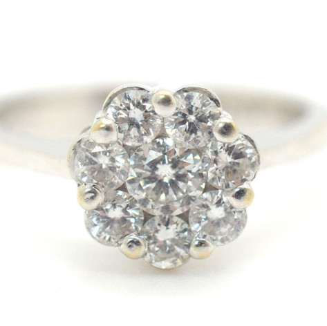 H.Stern Diamond Cluster Ring .75 Tcw Size 5.25