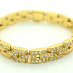 Cartier Maillon Panthère Diamond Bracelet 18k Yellow Gold 1.25 Tcw
