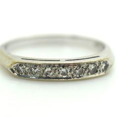 Estate Diamond Ring Appx. 20 Ct. 14k White Gold Size 7.25 2.55 Grams