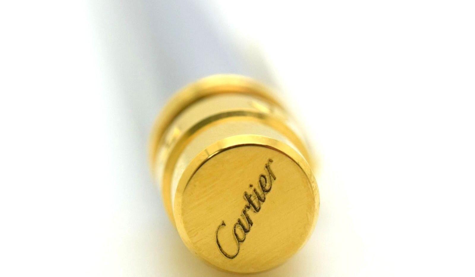 Cartier Santos Love Silver Gold Tone Ballpoint Rollerball Pen 048836