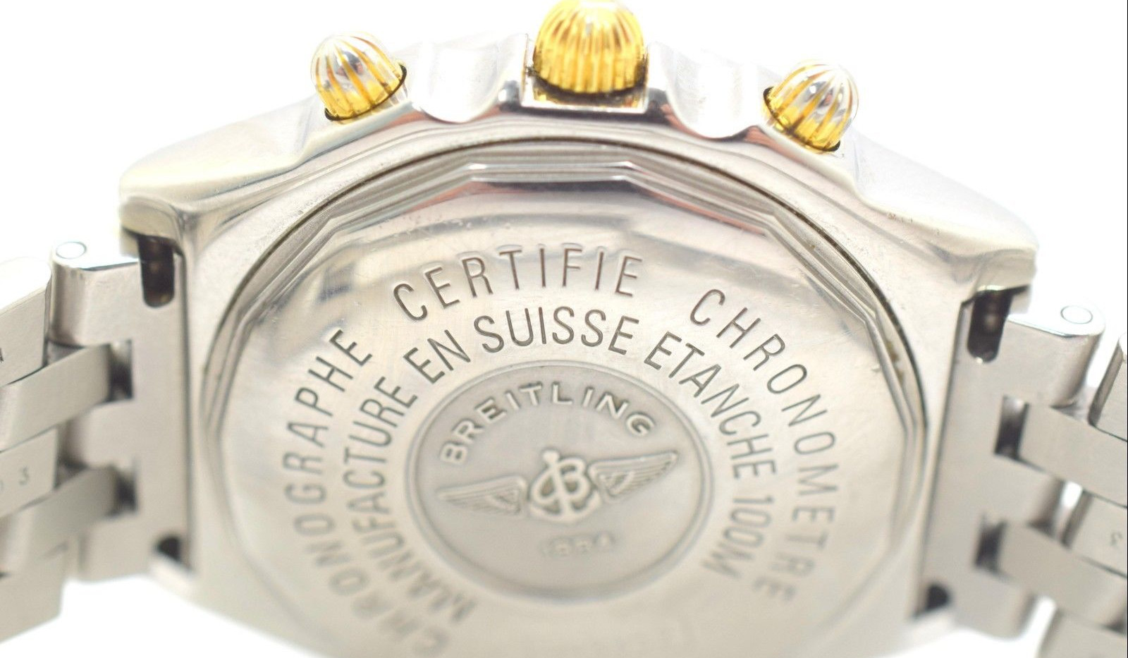 Breitling B13352 Chronomat Bicolor SS 18k Gold Self-winding Date Mens Watch