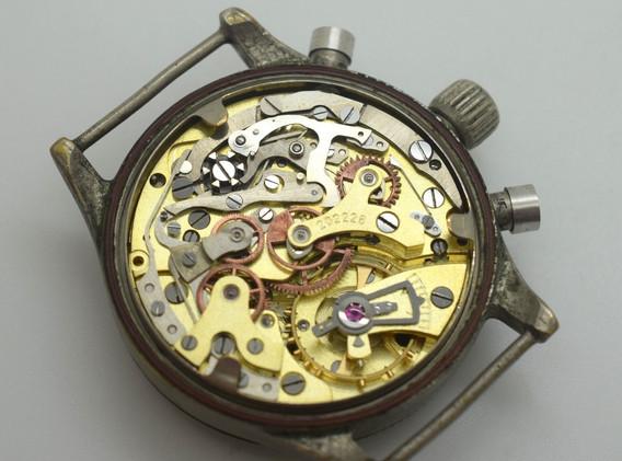Vintage Glashütte Original Watch Aviation Chronograph Urofa 59 Movement 1941