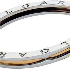 Bvlgari Bulgari B Zero-1 18k Yellow Gold & Steel Oval Bangle Bracelet