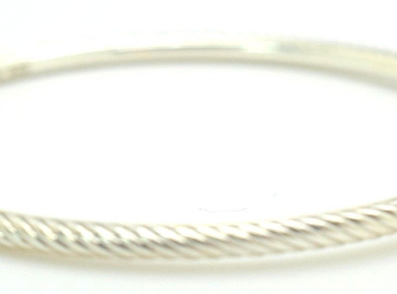 David Yurman Black Diamond Cable Bangle .9 Ct .925 Sterling Silver Square Shape