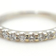 H. Stern Diamond Wedding Band .35 Tcw 18k White Gold Size 5.75