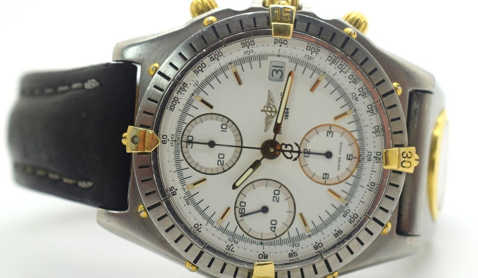 Breitling Chronomat Automatic Chronometer White Dial Dual Time Watch B13047