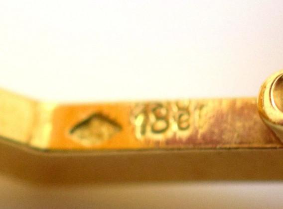 Vintage Chrysocolla Chalcedony 18k Yellow Gold Cuff links 21.8 Grams