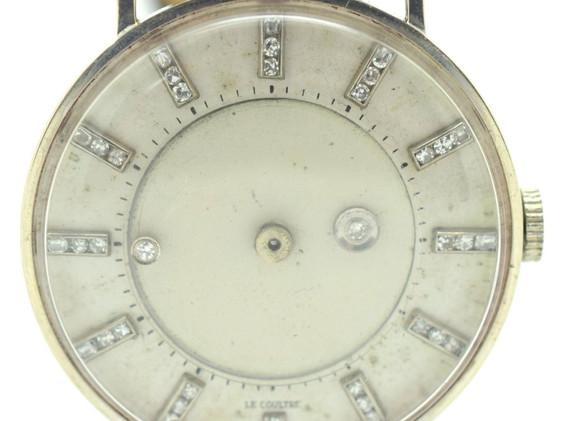 Vacheron & Constantin-LeCoultre White Gold Mystery Wristwatch Circa 1950