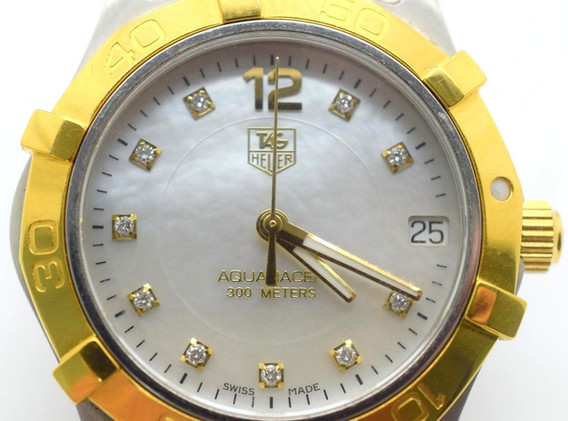 Tag Heuer WAF1320 Mother Of Pearl Diamond Dial Women's Two Tone Watch 18k S.S.