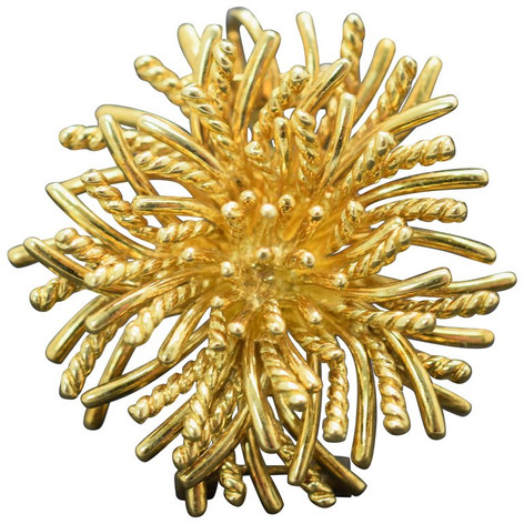 Tiffany & Co. Sea Anemone Brooch 18 Karat