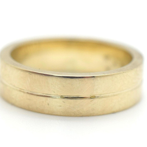 H.Stern Double Wide Ring 18k Yellow gold Size 5.75