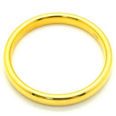 Milor Italy 18k Yellow Gold Resin Filled Gold Bangle 23.2 Grams