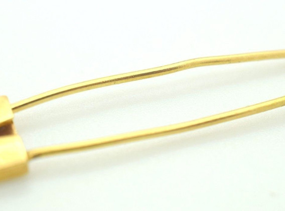 Estate 18k Yellow Gold Safety Pin Etched Design 2.26 Grams