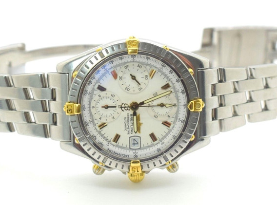 Breitling B13352 Chronomat Bicolor SS 18k Gold Self-winding Date Mens Watch