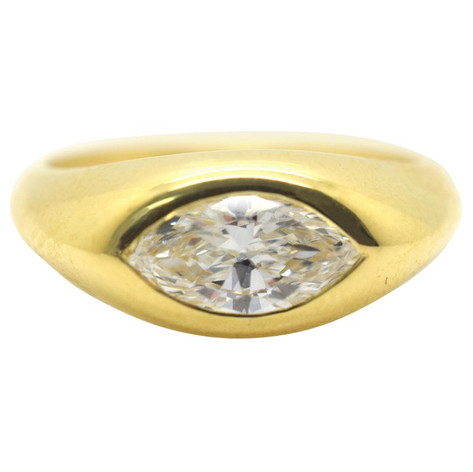 Cartier 1.25 Carat Marquise Diamond Vintage Ring