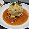Shrimp Mofongo with Creole Sauce