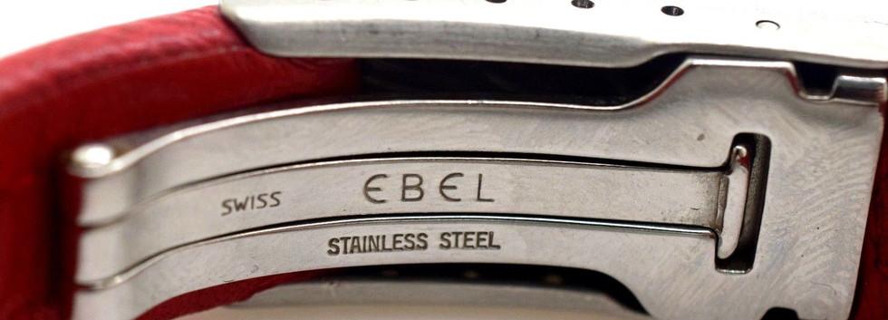 Ebel Two Tone Ladies Sportwave E6087621 18k Gold Steel Date Quartz Watch