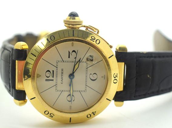 Cartier Pasha 18K Yellow Gold Automatic 38mm Watch