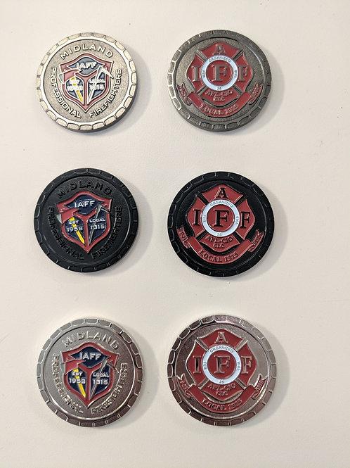Set of three (3) MFFYF challenge coins