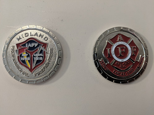 Midland Firefighters Youth Foundation Challenge coin