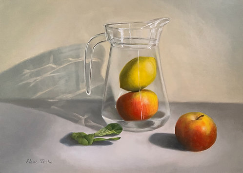 Still life with spinach