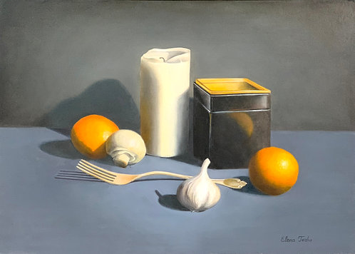 Still life with a garlic