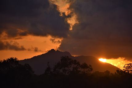 Moody orange cloudy sunrise sept 20 2019