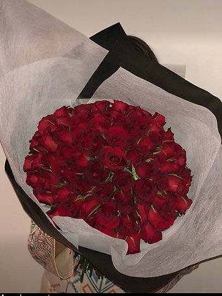 The roses bouquet.
