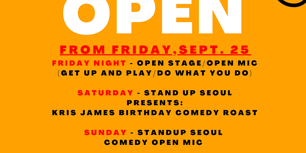 Friday open stage and karaoke!