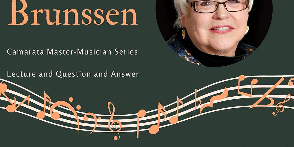 Camarata Virtual Music Academy - Karen Brunssen Lecture