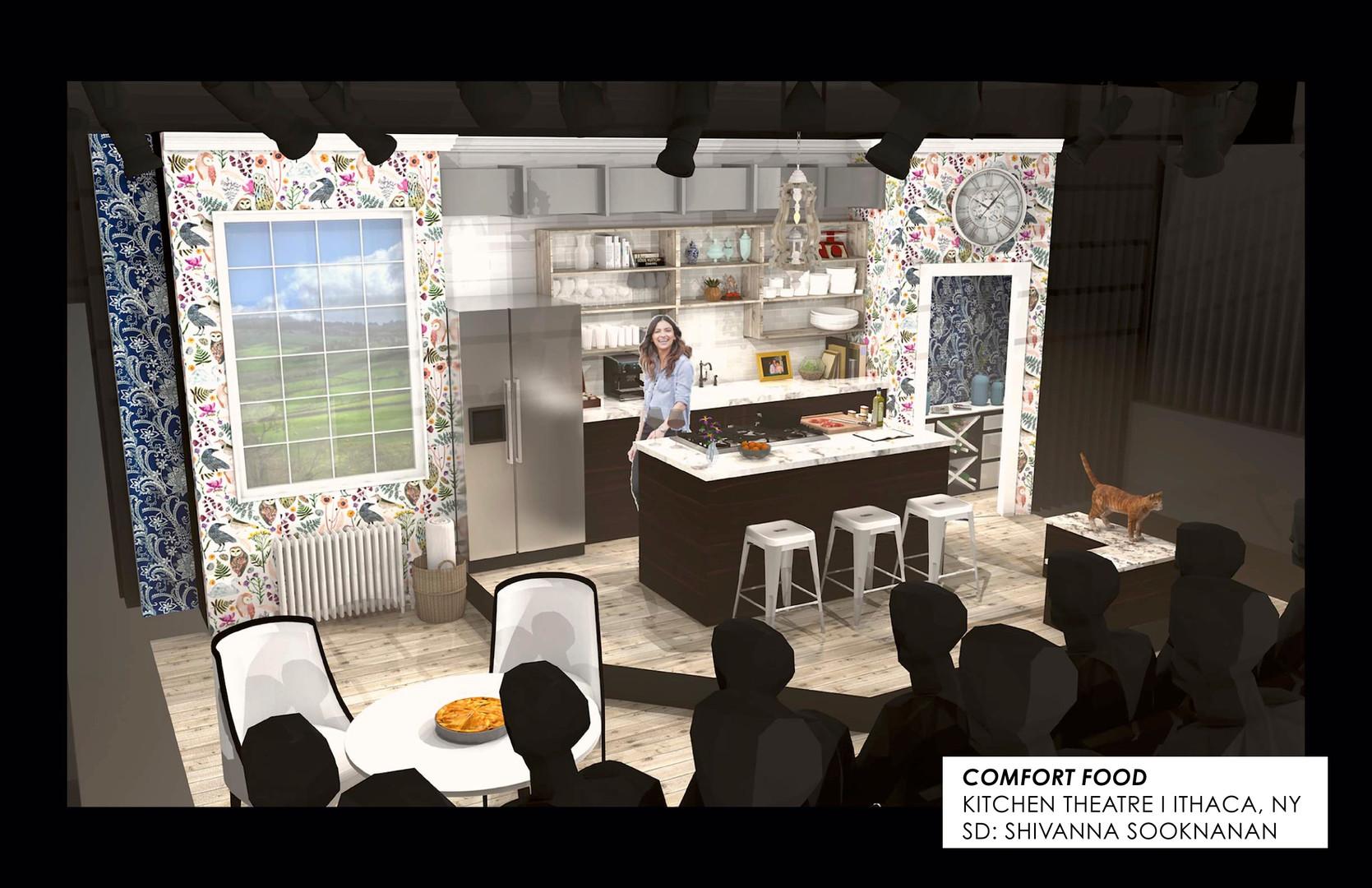 Comfort Food Final Vectorworks 3D Renders