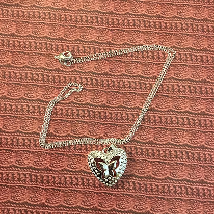 Heart/ butterfly necklace