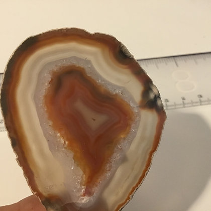Agate Slice , brown