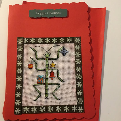 Stick insect xmas card